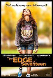 The Edge of Seventeen (2016) starring Hailee Steinfeld, Woody Harrelson. Watched December 2016, cinema.