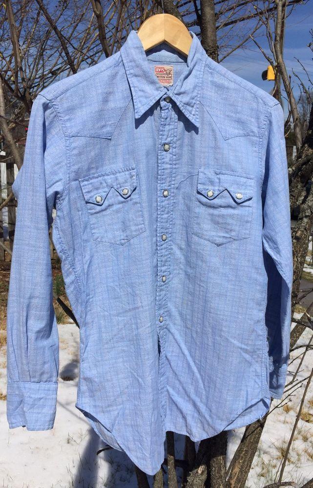 1960's - 70's men's shirt in original package - vintage Western De-Luxe shirt DMer16Mub