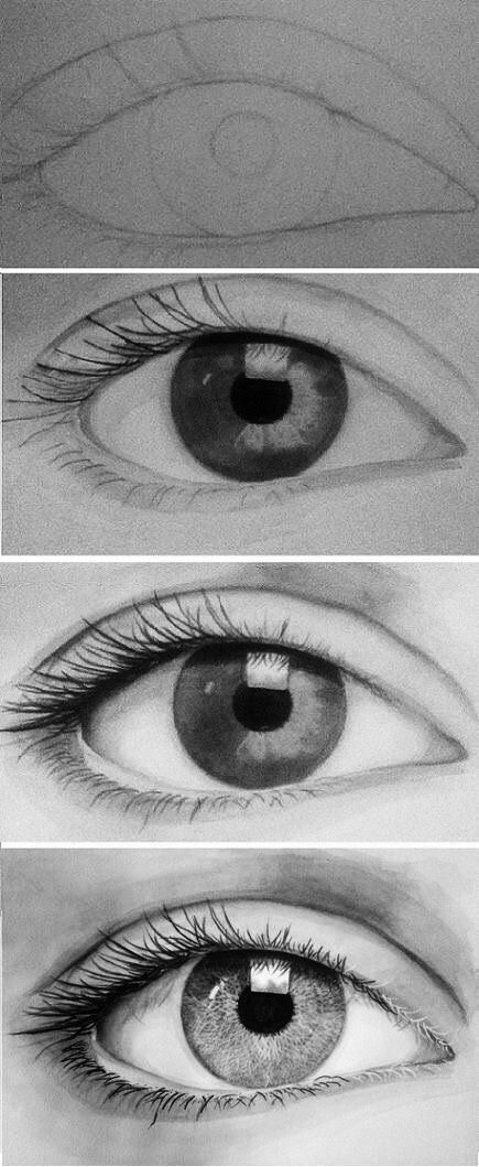 This is a beautiful drawing of a realistic eye!