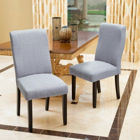 Noble House Morgan Dining Chair (Set of 2) Color Grey, Gray