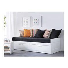 BRIMNES Estructura diván&2cajones, blanco - blanco - IKEA