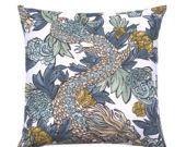 HUGE Sale Designer Decorative Pillow Cover, Ming Dragon, Accent Pillow, Asian Throw Pillow, Toss Pillow, Sofa Pillow, Pillow Cover, Double S