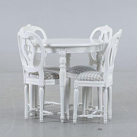 BARNMÖBLER, 5 delar, Gustaviansk stil, 1990-tal.