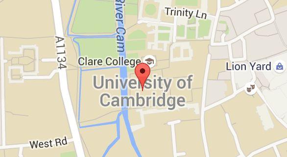 Map of University of Cambridge