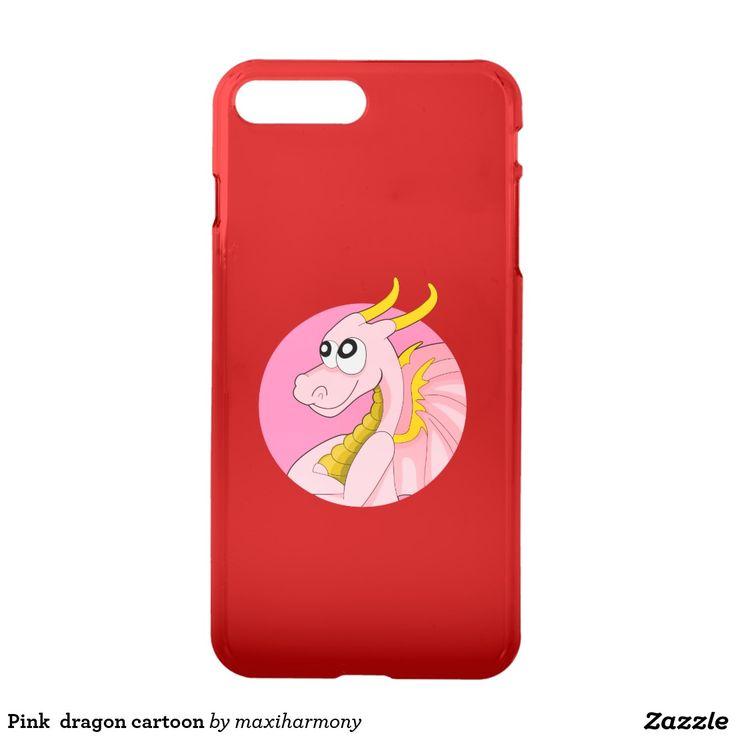 Pink  dragon cartoon iPhone 7 plus case