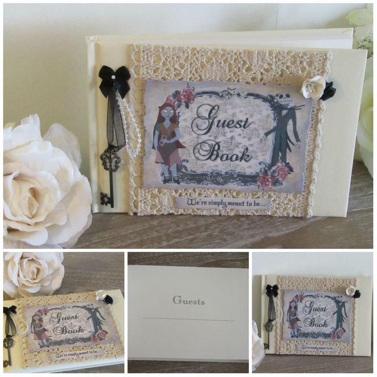 1 Handmade Nightmare Before Christmas Wedding Guestbook