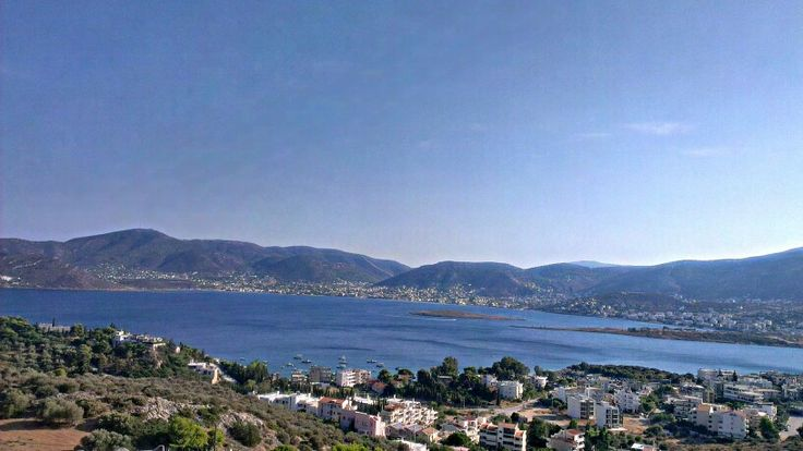 View from the #castle at #PortoRafti, #Greece