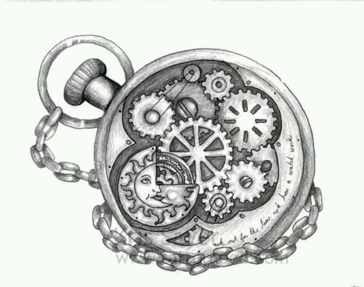 "I'm looking for a pocketwatch/clock design that would look good with the phrase ""You would have to be half mad to dream me up"" and I think i want the chain to wrap around the text a bit. It's gonna be a shoulder one, left side. Black, no color."