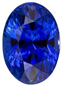 Blue Sapphire Loose Gemstone, Oval Cut, 9.3 x 6.6 mm, 3.26 Carats at BitCoin Gems