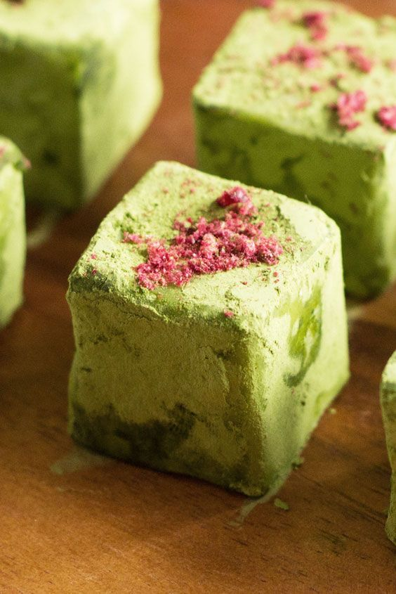 Matcha (Green Tea) in bite-sized truffles!