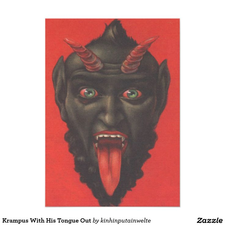 23 best fun stuff images on pinterest fun stuff advertising and krampus with his tongue out 5x7 paper invitation card stopboris Gallery