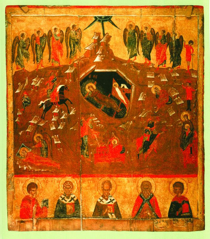 XV-XVI вв.  Рождество Христово с избранными святыми