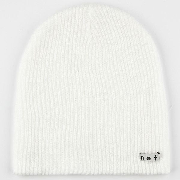 Neff Daily Beanie ($17) ❤ liked on Polyvore featuring men's fashion, men's accessories, men's hats, hats, beanies, accessories, white, mens white fedora hat and mens beanie hats