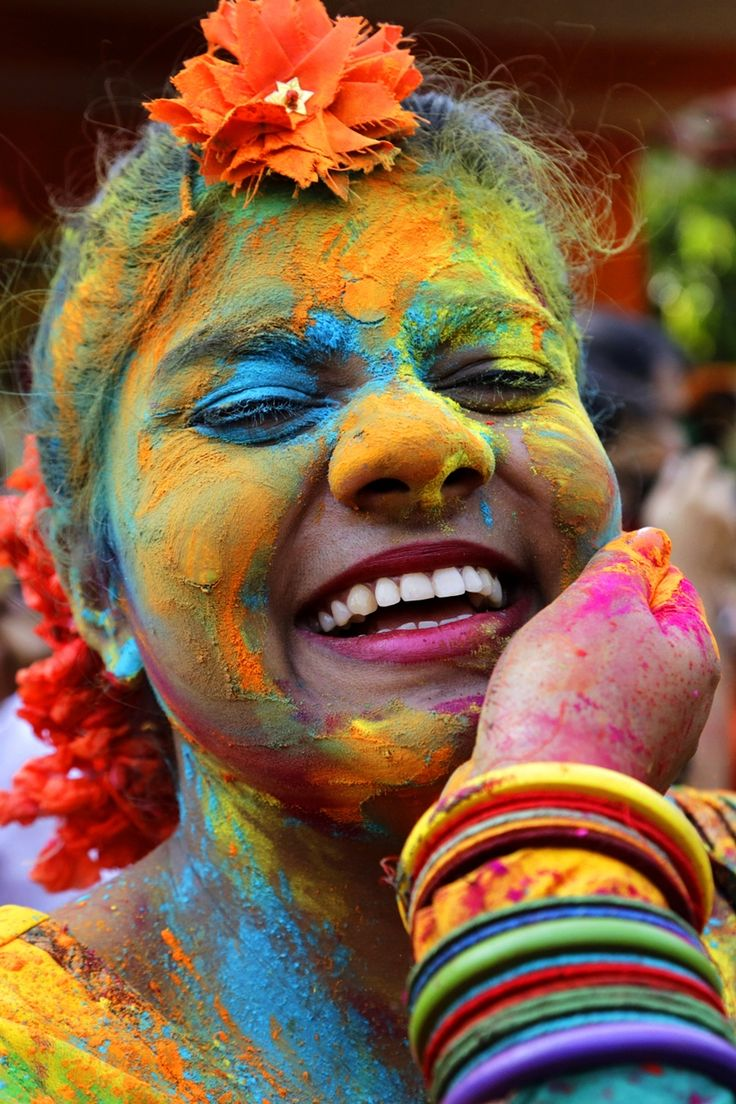 Indian Hindus celebrate the festival of colors or Holi in Kolkata, India, Wednesday, March 23, 2016. The holiday, celebrated mainly in India and Nepal, marks the beginning of spring and the triumph of good over evil. (AP Photo/Bikas Das)
