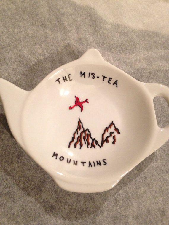 Hobbit Lord of the Rings Mis-Tea Mountains teabag holder, teapot shape, cearmic, 2016