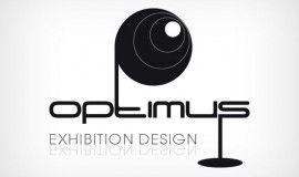 Σχεδιασμός λογοτύπου για την εταιρία σχεδιασμού εκθεσιακών περιπτέρων Optimus.