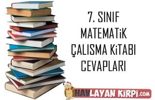 7. Sınıf Matematik Çalışma Kitabı Cevapları sitemizde yayınlanmıştır. En yeni ve doğru çalışma kitabı cevapları için sitemizi ziyaret edin.