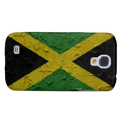 #Jamaica Flag With Stucco Wall Texture. Samsung Galaxy S4 Case.