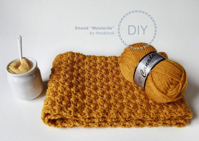 Hooklook, le crochet c'est tendance !: Snood couleur moutarde