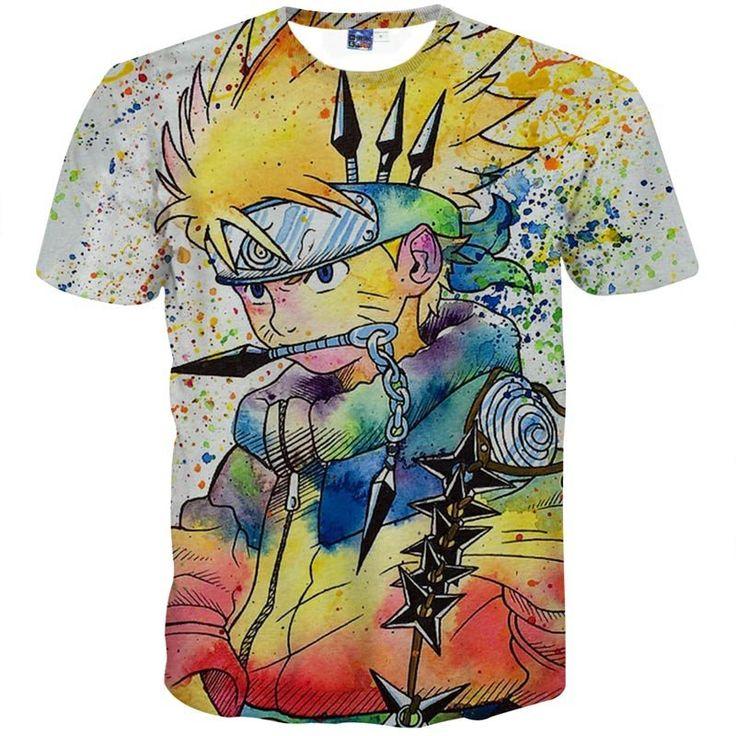 Naruto Colourful Men's T-Shirt