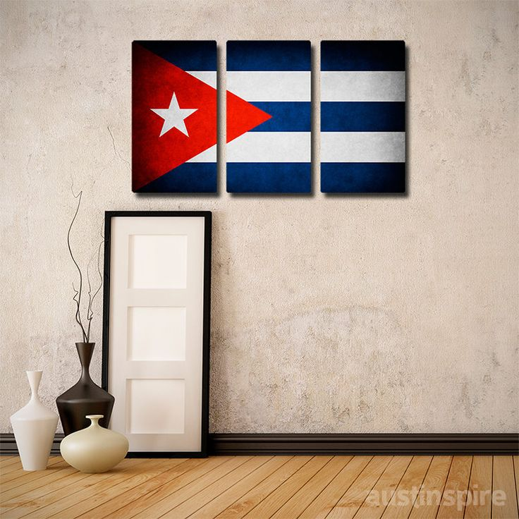 The Original Cuba Flag Triptych (Canvas, Metal or Matte Print) by Austinspire on Etsy https://www.etsy.com/listing/169005644/the-original-cuba-flag-triptych-canvas