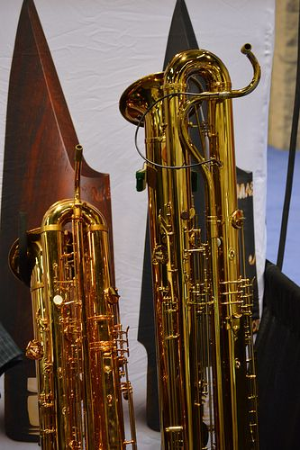 The Contra and Double Contra Bass Saxes are HUGE!!!!! Baritone Saxophone > Bass Saxophone > Contra Bass Saxophone > Double Contra Bass Saxophone. HUGE!!