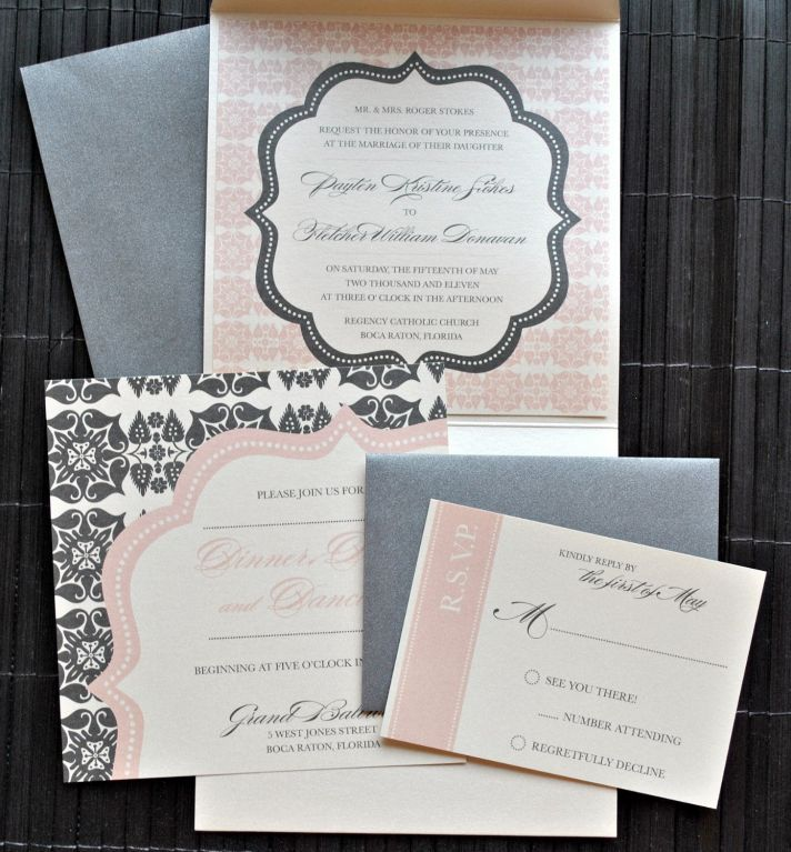Wedding Color Inspiration: Charcoal Blush | OneWed