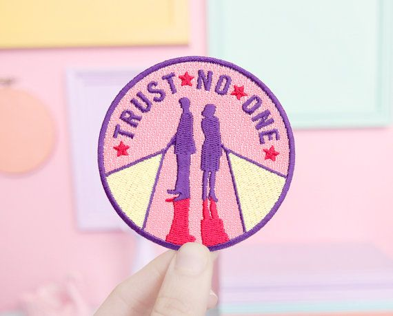 X-Files Trust No One Patch by sweetandlovely on Etsy