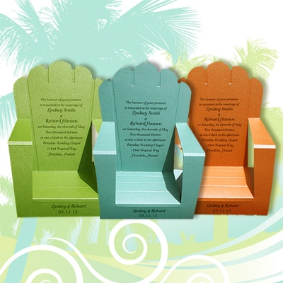 beach chair card- very quick to make and I'm sure a beach related cheesy quote would be easy to come up with