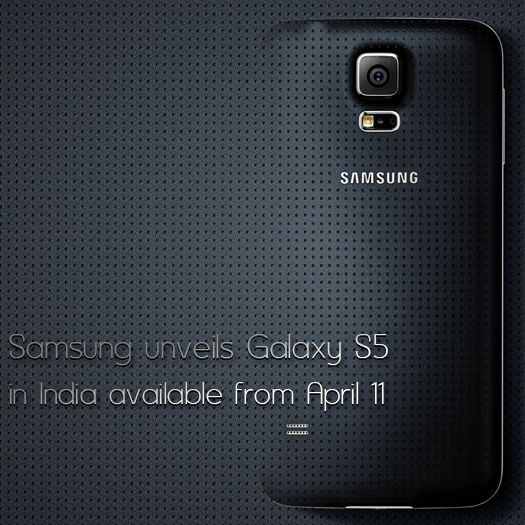 Samsung has announced that they are totally planning to launch their Android phone Galaxy S5 on April 11th in India at a price of Rs 51k to 53k..
