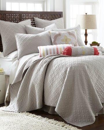 Matte Satin Aria Quilt Collection More Colors Available Main View Master Bedroom