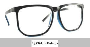 Darcy Big Geometric Clear Lens Glasses - 283 Black