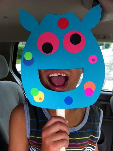 Cute link to monster ideas- use for Halloween. Monster mask could be cute to retell the story Monster Goes to School.