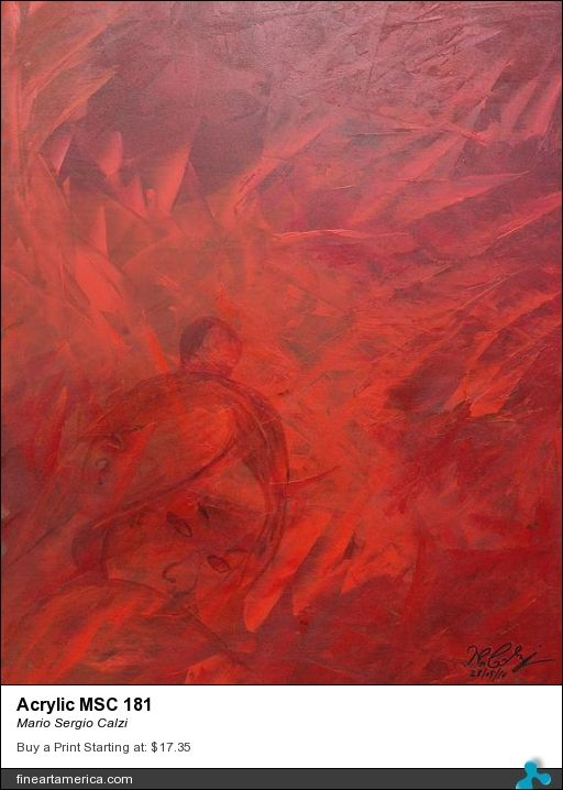 """Review for my painting """"Acrylic MSC 181"""" by Rebecca Anne Dufresne."""