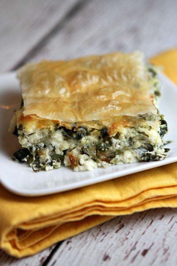 Greek Spinach Pie Recipe - RecipeGirl.com