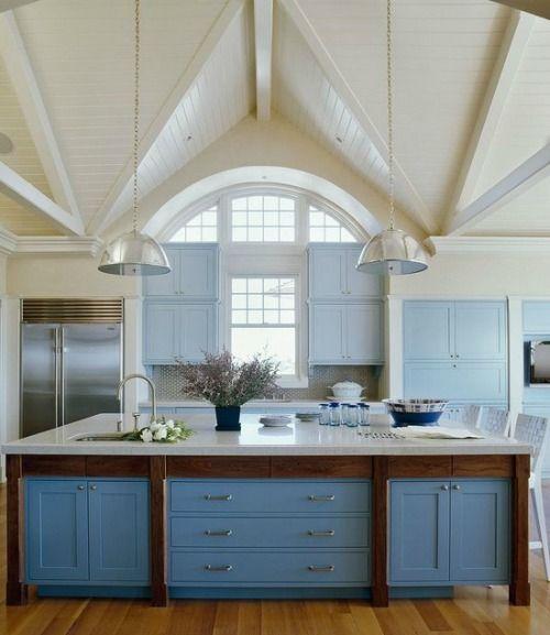 Kitchens Design, Colors, Kitchens Islands, Blue Kitchens, House