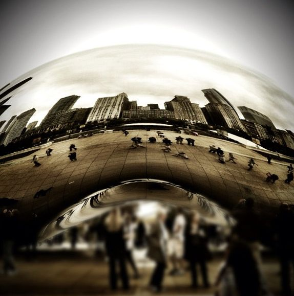 #Chicago's Cloud Gate sculpture is a major highlight of Grant Park and a priceless photo-op for visitors.
