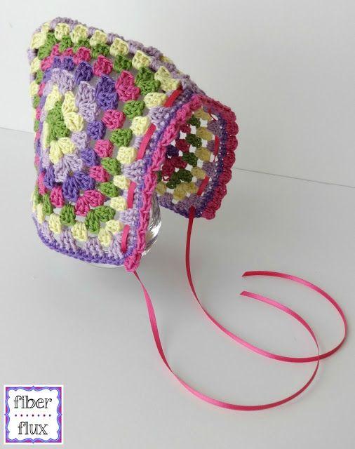 Free Crochet Pattern...Vintage Granny Bonnet!   Fiber Flux...Adventures in Stitching   Bloglovin