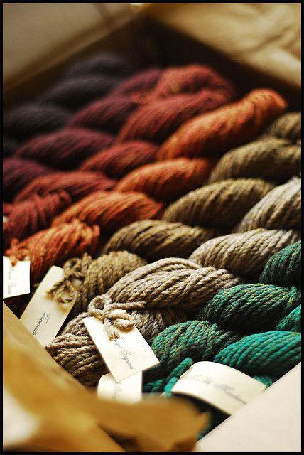 fall colored yarns