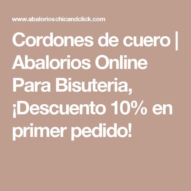 Cordones de cuero   Abalorios Online Para Bisuteria, ¡Descuento 10% en primer pedido!
