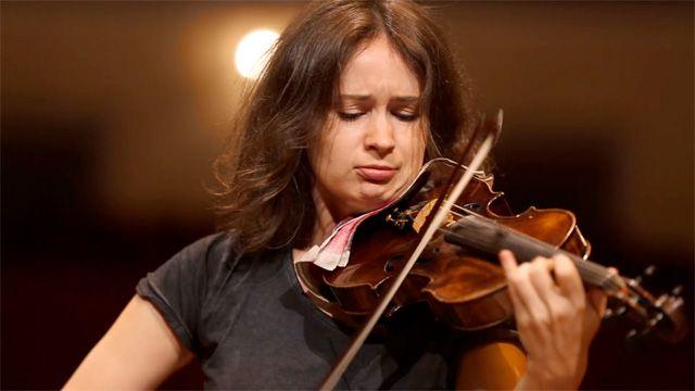Patricia Kopatchinskaja performs Bartók's Violin Concerto No 2 for the Edinburgh international festival