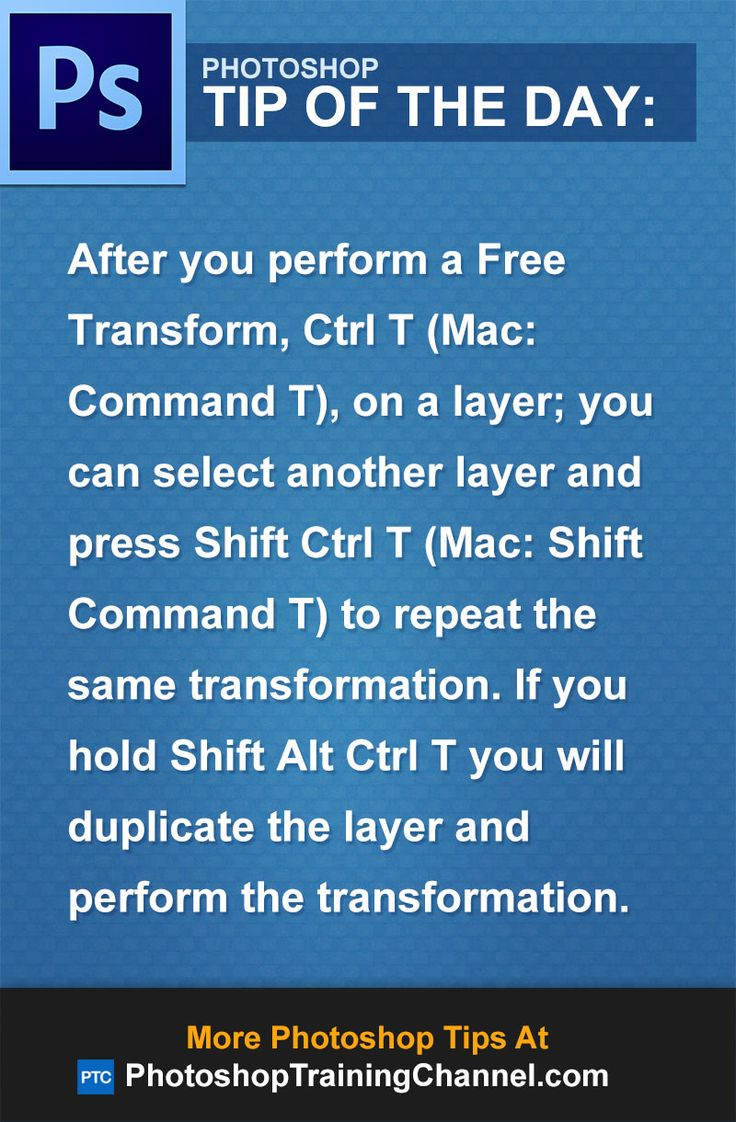 After you perform a Free Transform, Ctrl T (Mac: Command T) on a layer, you can select another layer and press Shift Ctrl T (Mac: Shift Command T) to repeat the same transformation. If you hold Shift Alt Ctrl T you will duplicate the layer and perform the transformation.