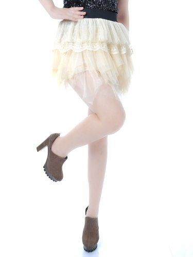 Anna-Kaci S/M Fit Light Yellow Multi Tiered Flowy Organza Lace Detail Mini Skirt Anna-Kaci. $16.00. Save 41%!