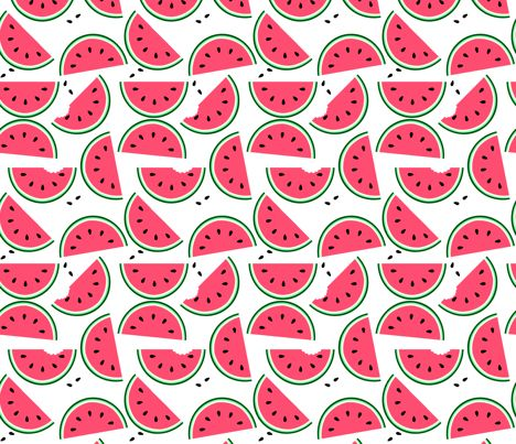 Watermelon fabric by jadegordon on Spoonflower - custom fabric