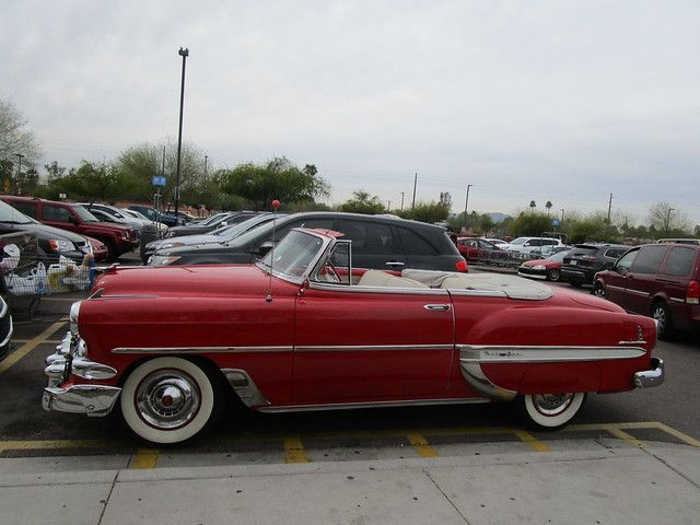Vintage Car 1950 S Red Chevrolet Bel Air Power Glide Convertible