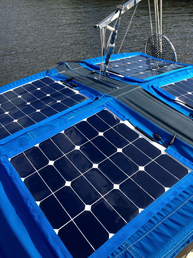 How to install semi-flexible solar panels on the canvas of a 35 foot sailboat.