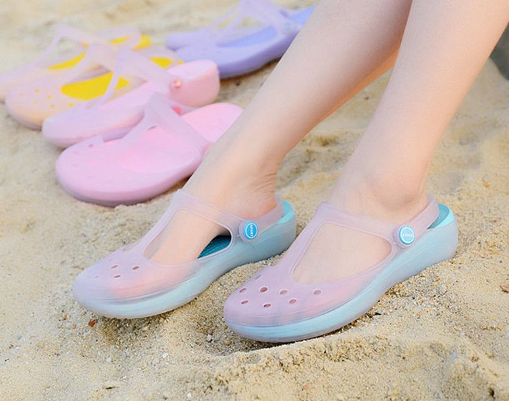 HOT sandals women flat sandals 2014 color jelly shoes sandals slip  #shoes #other #Casual
