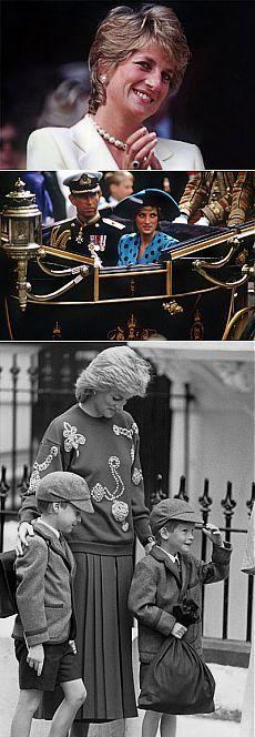 Diana, princesa de Gales, fue la primera esposa del príncipe Carlos de Gales. Durante su matrimonio con el heredero de la Corona británica, tuvo dos hijos: los príncipes Guillermo de Cambridge y Enrique de Gales.