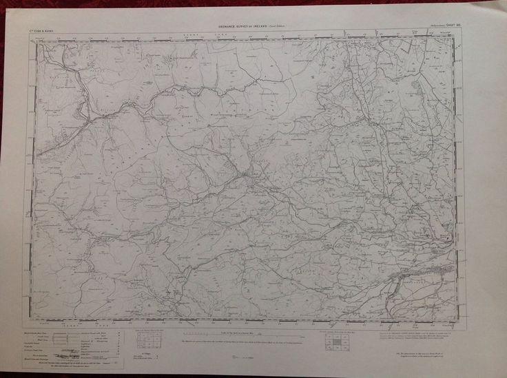 Ordnance Survey Map Ballymakeery Cork Ireland One Inch 1900 Version Cartography