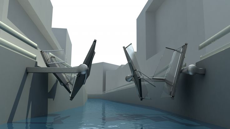 collapsible bridge folding concept amsterdam design video Jan Blaton Collapsible Bridge | Blaton